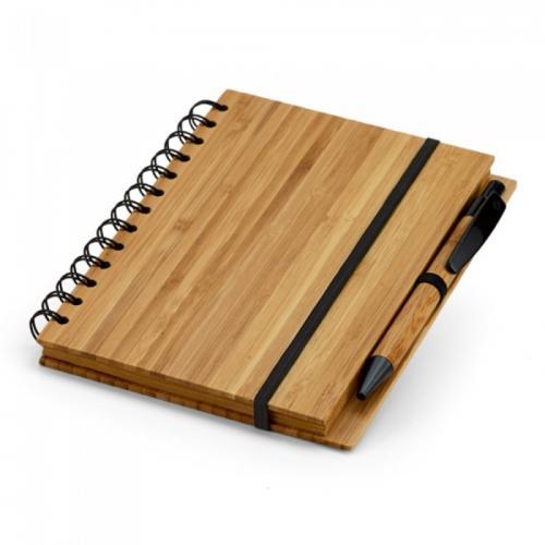Блокноты - Блокнот с ручкой, бамбук (0139348560)