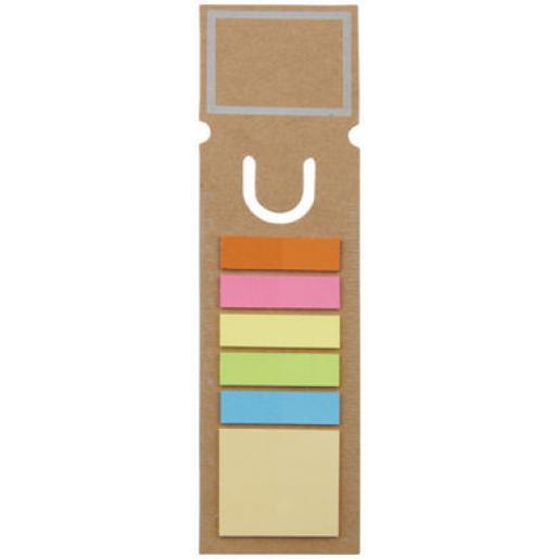 Офисные принадлежности - Эко закладка с цветными стикерами (10722501FM)