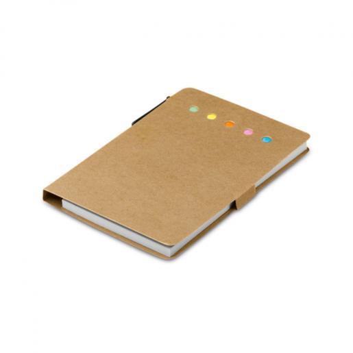 Офисные принадлежности - Блокнот со стикерами и ручкой (93791FM)