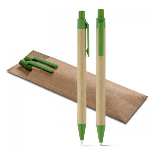 Ручки - Эконабор (авторучка, карандаш, футляр) (0091846)