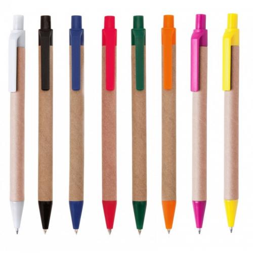 Эко ручки - Одноразовая экоручка из кукурузного пластика и картона (V1470)