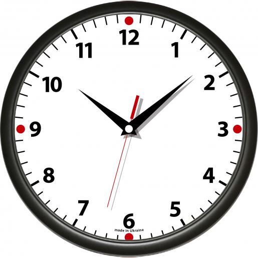 Часы - Часы настенные с цветным ободком, пластик (12Classic)