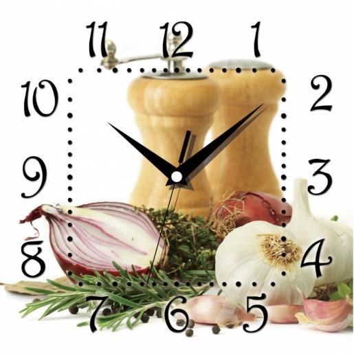 Часы настенные квадратные, МДФ (12Panorama)