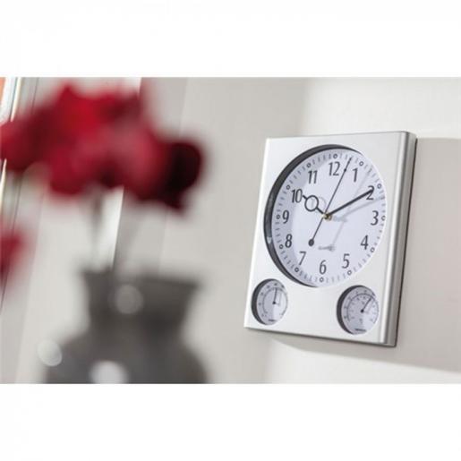 Часы - Часы прямоугольные с термометром и гигрометром (0190401517)
