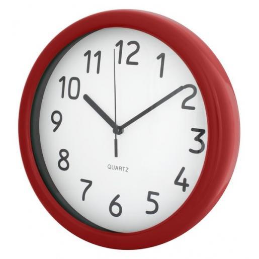 Другое - Часы настенные пластиковые с цветным ободком (07E51812)