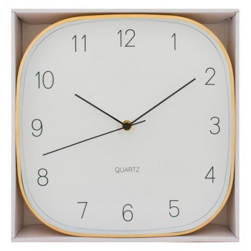 Другое - Часы настенные, квадратные, с металлическим ободком (07O52080)