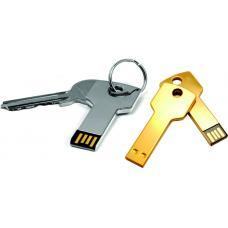 Флешки - Флешка 4-64 Гб, в виде ключа, металл (S0457)