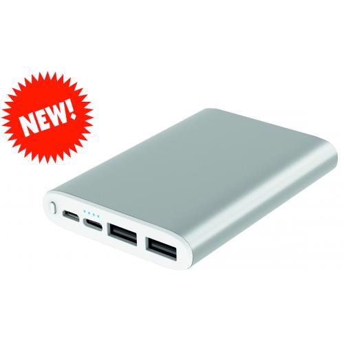 Павербанки - Зарядное устройство Power Bank металл, 5000 mAh (038008)