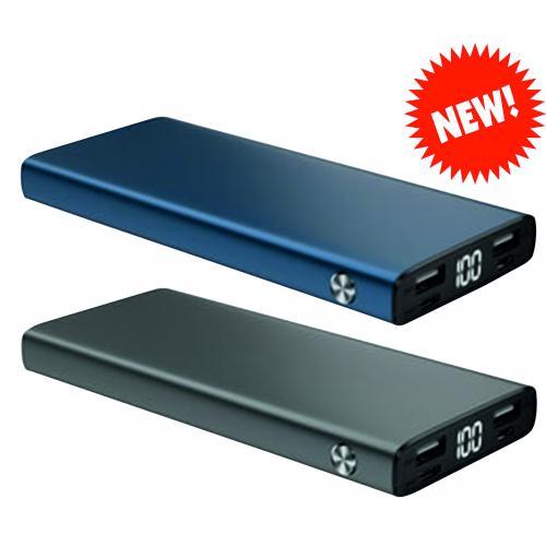 Павербанки - Зарядное устройство Power Bank металл, 10 000 mAh (038016)