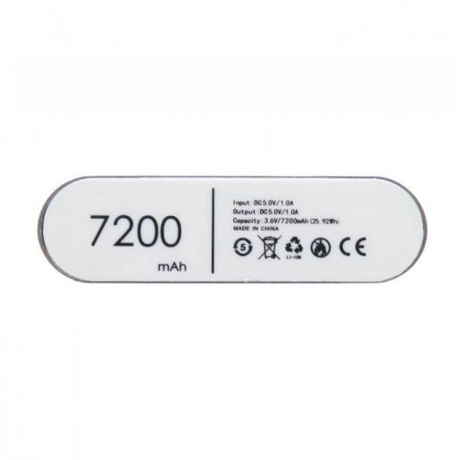 Павербанки -  Зарядное устройство Power Bank, металл, 7200 mAh (0139734327)