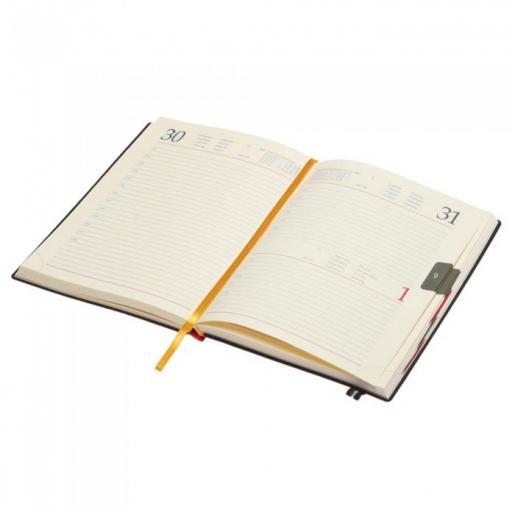 Датированные ежедневники - Ежедневник кожа, датированный А5, кремовый блок, линия (0183128440)