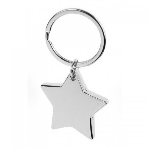 Брелоки - Брелок металлический в форме звезды (020450BR)