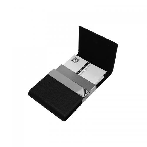 Визитницы - Визитница из кожзама и металла (0223379)