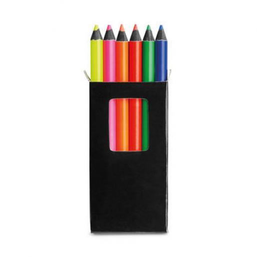 Карандаши - Набор флуоресцентных карандашей, цветных  6 шт (91767FM)