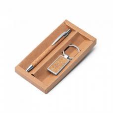 Набор ручка и брелок из пробки (01393324)