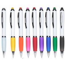 Ручки пластиковые - Авторучка пластиковая со стилусом (01391634)