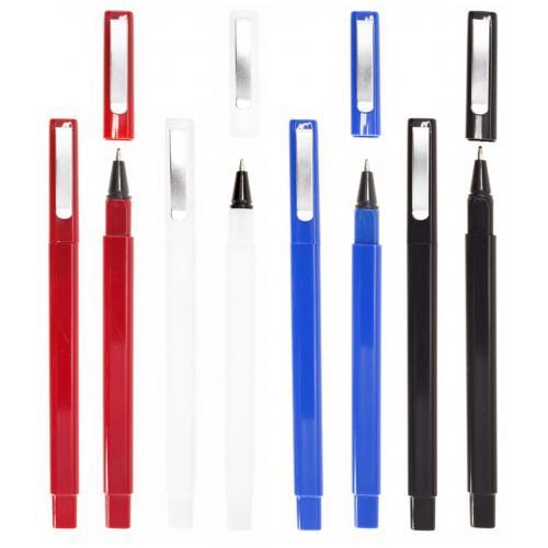 Ручки пластиковые - Ручка шариковая пластиковая, квадратная (023560)