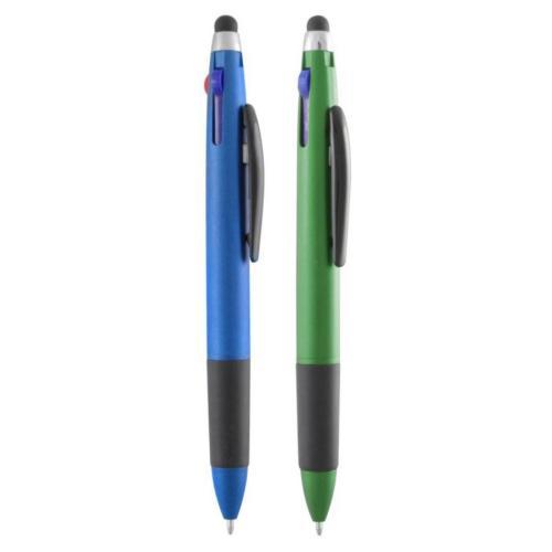Многофункциональные ручки - Ручка пластиковая, шариковая со стилусом (027061)