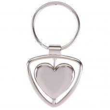 Брелоки - Брелок металлический в форме сердца (0190407931)