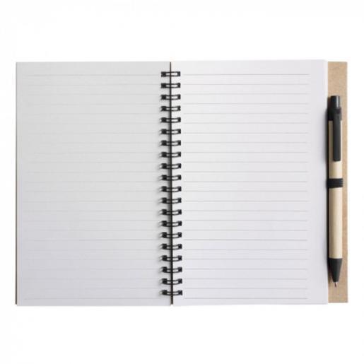 Записные книжки - Блокнот Эко B6 формат, 60 листов, спираль сбоку с авторучкой (01952715)