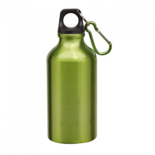 Спортивные бутылки - Бутылка для воды 400 мл с карабином, металл (01906030)