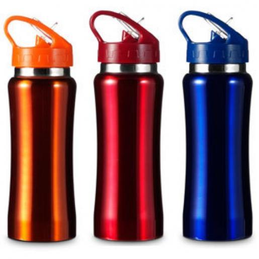 Аксессуары для путешествий - Бутылка для воды 600 мл, металл (004656)