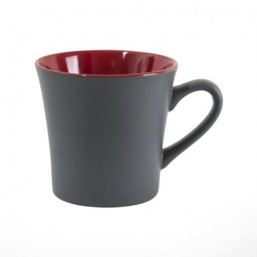 Кухонные аксессуары - Чашка керамическая, матовая серая снаружи 360 мл (0651K037MH7)