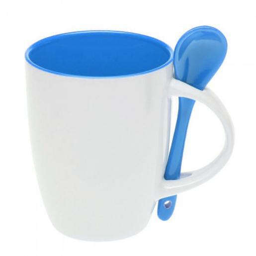 Кухонные аксессуары - Чашка керамическая с ложкой, 300 мл (0188210256)