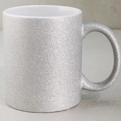 Под сублимацию - Чашка сублимационная, Глиттер, 330 мл (05М26)