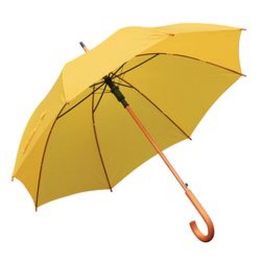 Зонты трости - Зонт-трость, полуавтомат, с деревянной ручкой (03500)